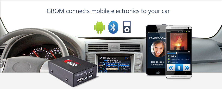 GROM Audio: USB / Android / MP3 / Bluetooth / iPod / iPhone